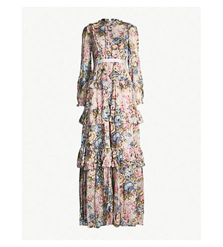 NEEDLE AND THREAD Rose Fairystale chiffon gown (Dove