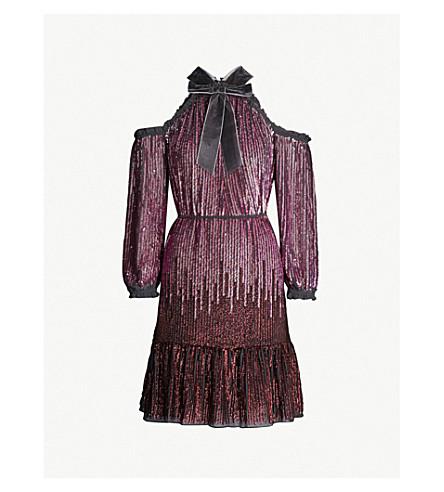NEEDLE AND THREAD Kaleidoscope sequin dress (Graphite