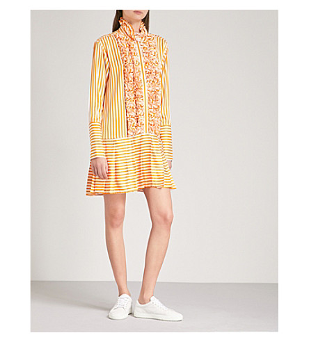 MAGGIE MARILYN Live A Little striped satin-twill dress (Sunshine+stripe