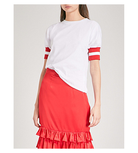 MAGGIE MARILYN Sunkissed cotton-jersey T-shirt (White/red