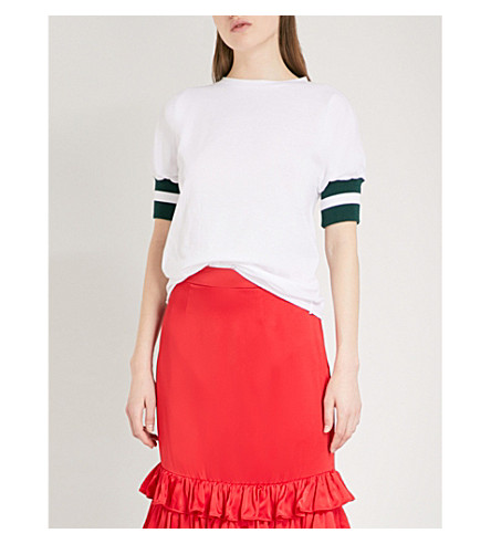 MAGGIE MARILYN Sunkissed cotton T-shirt (White/pine