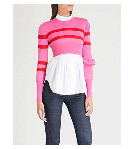 MAGGIE MARILYN The Believer cropped wool jumper (Hot+pink