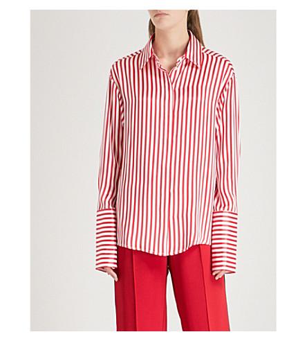 MAGGIE MARILYN Aimees striped silk shirt (Cherry+stripe