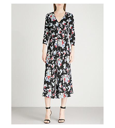 RIXO Katie V-neck crepe midi dress (Pastel+30s+bunch+floral