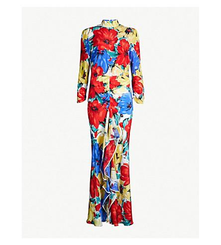 RIXO Lucy floral-print silk midi dress (Floral mul