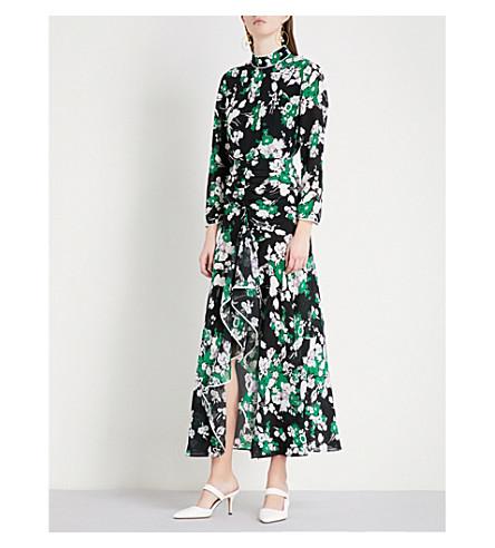 RIXO Lucy open back silk-crepe midi dress (30s+bunch+flr+lilca+blk