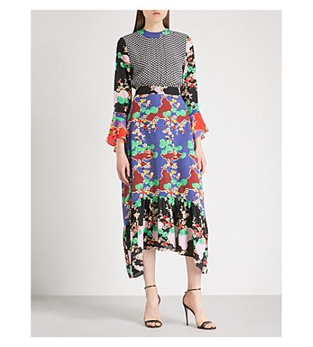RIXO Chrissy star and floral-print silk dress (Cherry blossom  print