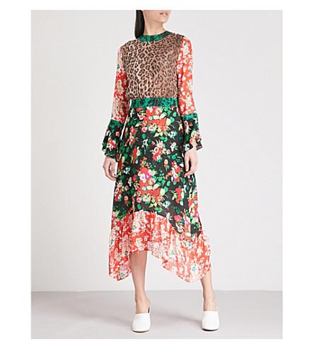 RIXO Chrissy flared silk-crepe midi dress (Mixed+30s+bunch+floral