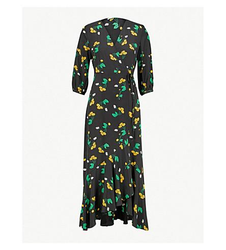 RIXO Noleen daisy-print silk-crepe dress (Yell+multi