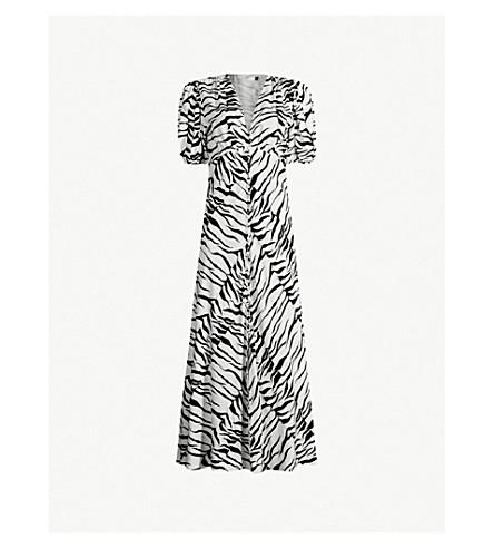 RIXO Tonya tiger-print crepe maxi dress (80s tiger