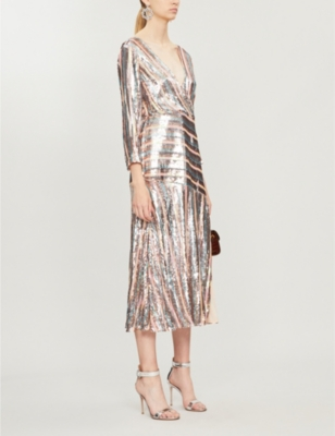 Tyra sequin-embellished midi dress