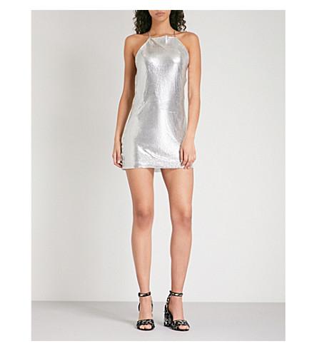 POSTER GIRL Leeloo metal-mesh mini dress (Chrome+silver