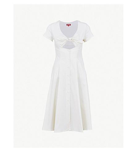 STAUD Alice stretch-cotton dress (Ecru