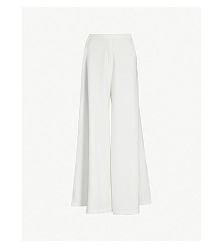 STAUD Dune high-rise crepe wide-leg trousers (Opal