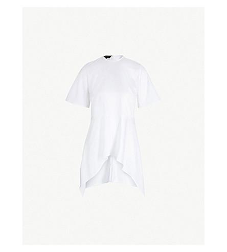 SID NEIGUM Peplum-hem cotton-blend top (White