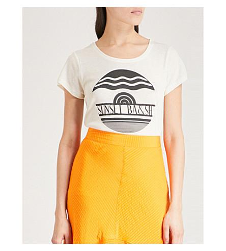 BA&SH Birky jersey T-shirt (Off+white
