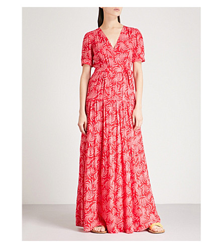 BA&SH Coming printed crepe maxi dress (Pink