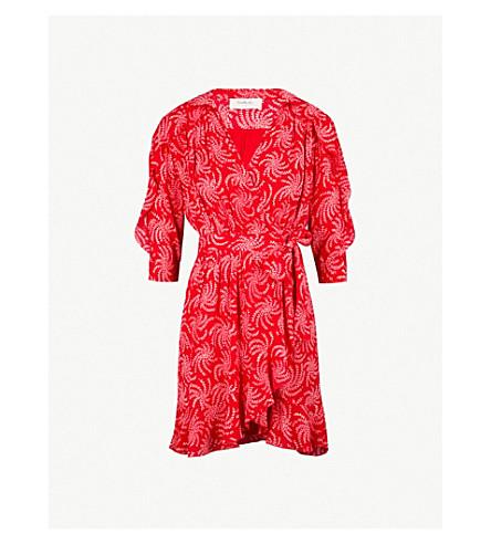 BA&SH Corazon printed crepe mini dress (Pink
