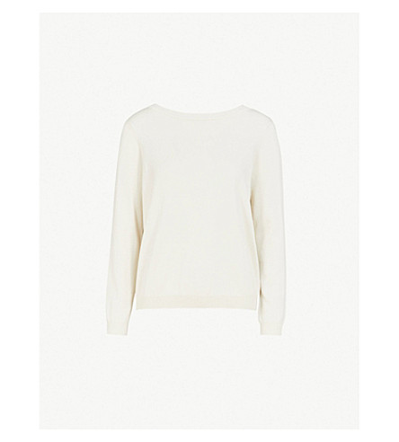 BA&SH Silk and cotton-blend jumper (Bleunuit