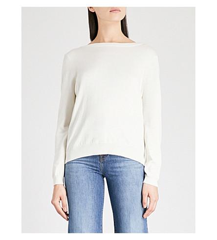 BA&SH Silk and cotton-blend jumper (Bleunuit