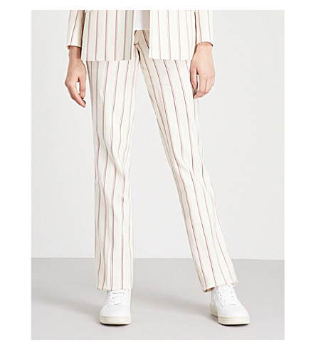 BA&SH Farah linen-and-cotton trousers (Off+white