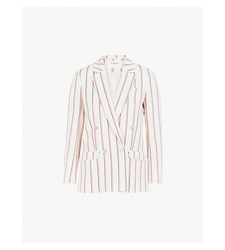 BA&SH Farah cotton-blend jacket (Off+white