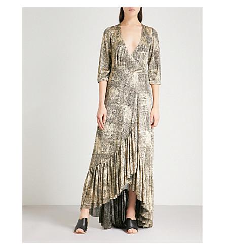 BA&SH Fenix lamé maxi dress (Gold