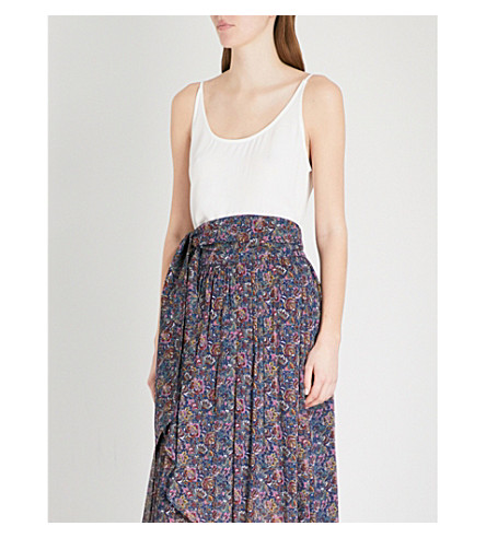 BA&SH Figue crepe top (Off+white