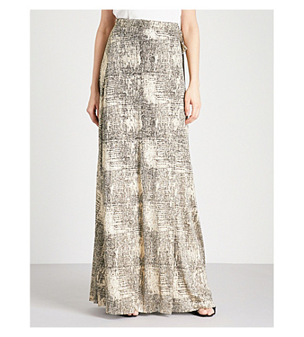 BA&SH Firma metallic-woven maxi skirt (Dore