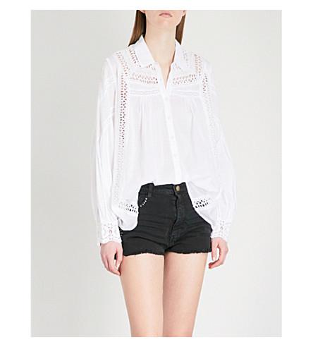 BA&SH Hitsuri crocheted cotton shirt (White