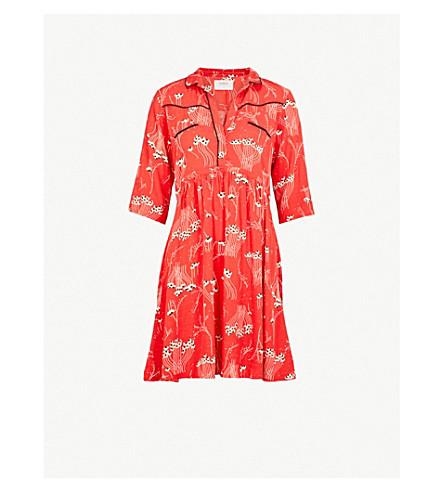 BA&SH Kyle printed crepe dress (Red