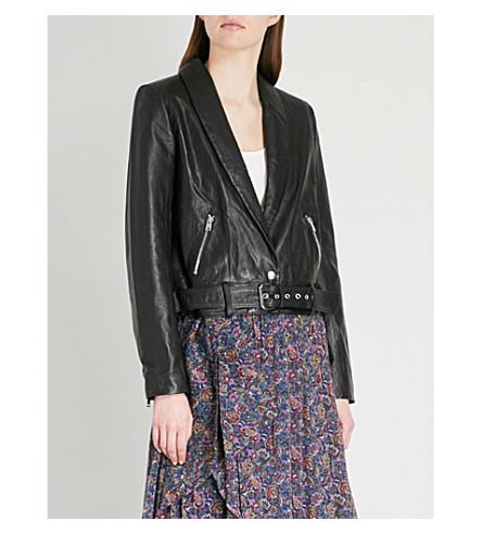 BA&SH Leak leather jacket (Black