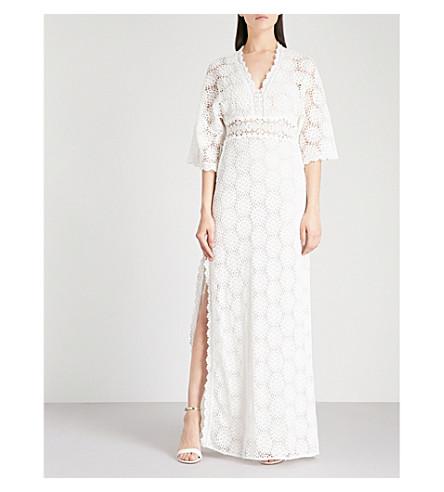 BA&SH Lorraine cotton-embroidered maxi dress (Off+white