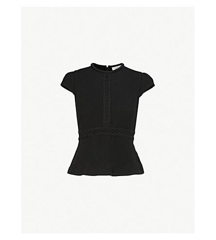 BA&SH Ohana woven top (Black