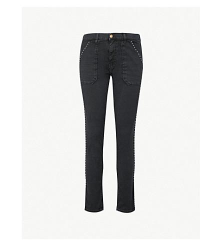 BA&SH Ssally embellished slim-fit straight jeans (Blackstone