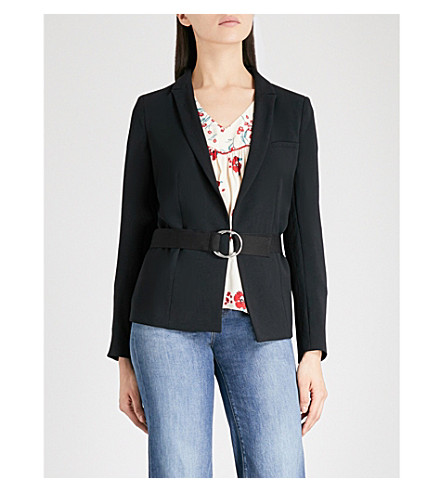 BA&SH Sunny belted woven jacket (Black