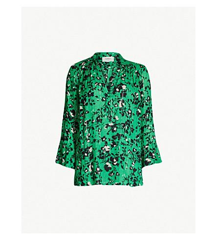 BA&SH Eddy floral-print woven shirt (Green