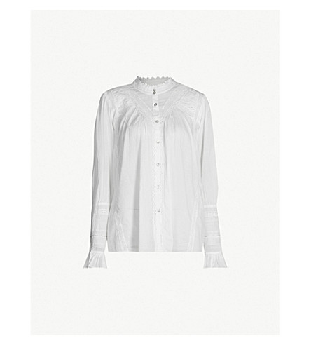 BA&SH Heiko cotton blouse (Off white