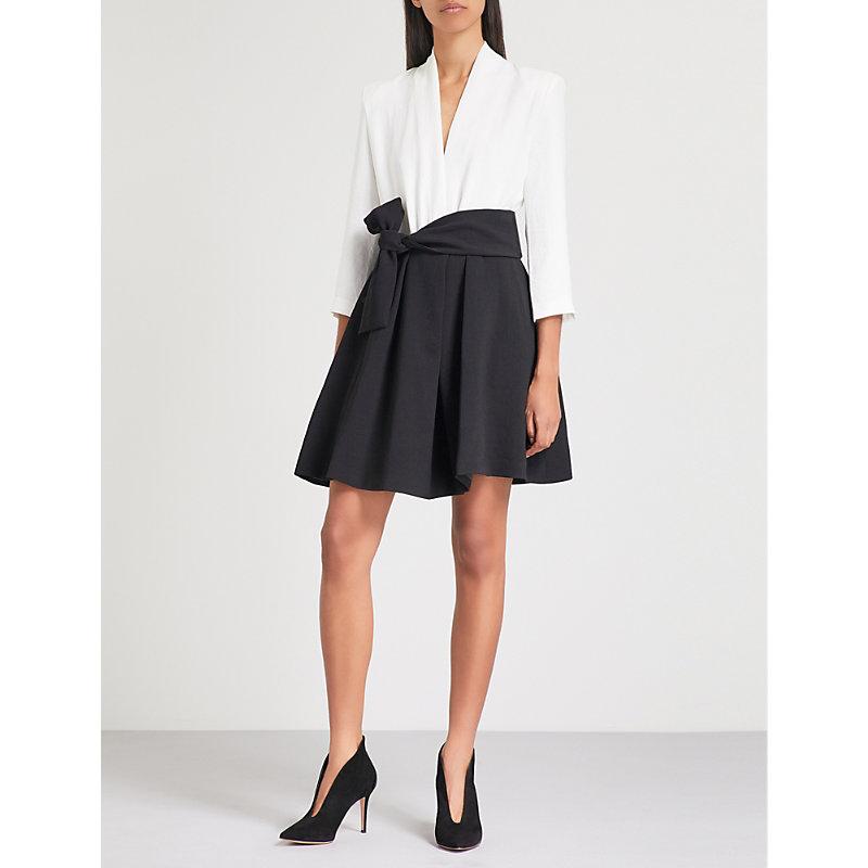 BA&SH Cora waist-tie crepe dress