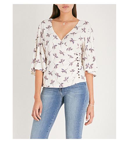 BA&SH Ferdy crepe blouse (Ecru