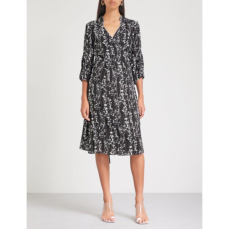 BA&SH Folly floral-print woven wrap dress