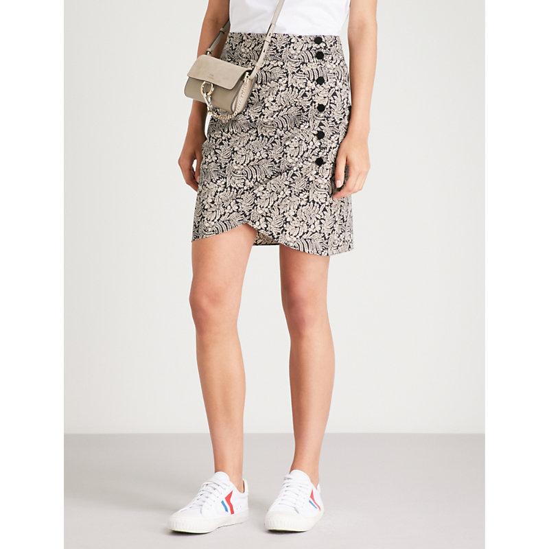 BA&SH Floral-print cotton skirt