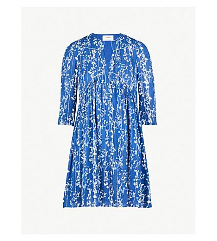 BA&SH Folly floral-print woven dress (Bleuet