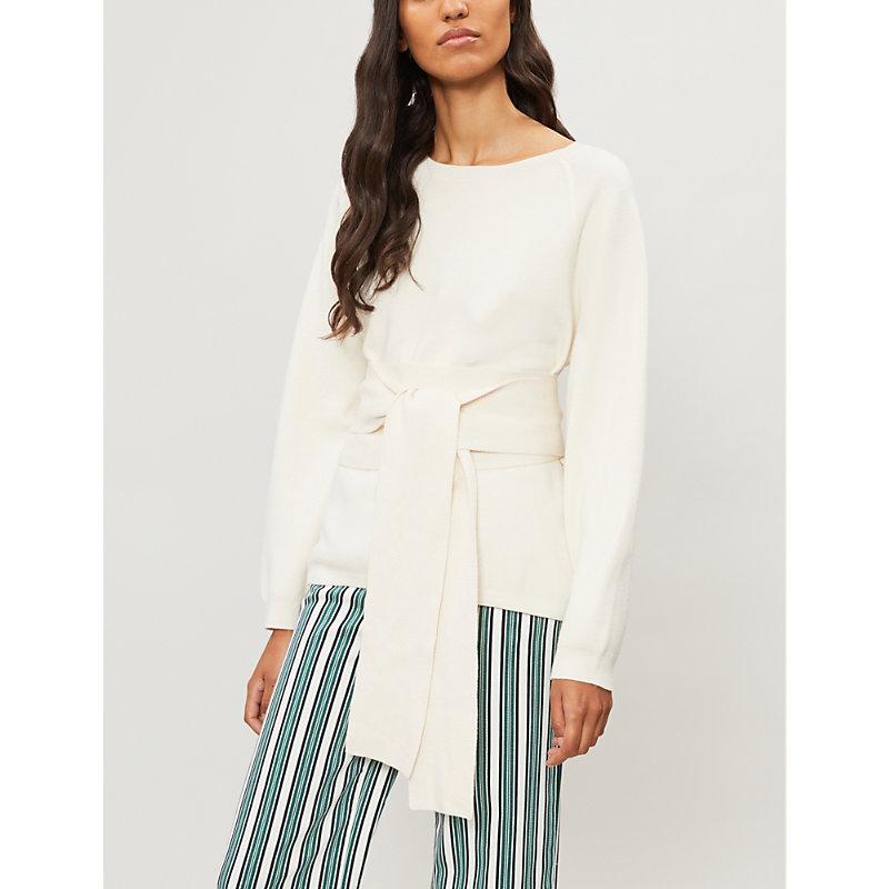BA&SH Hanna waist-tie cotton-blend jumper
