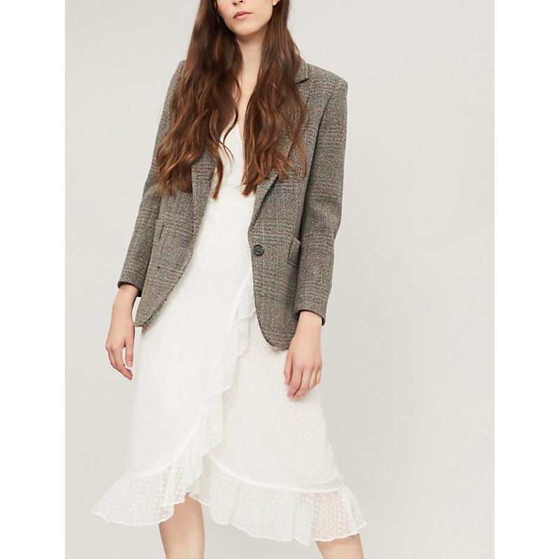 BA&SH Leto herringbone wool jacket