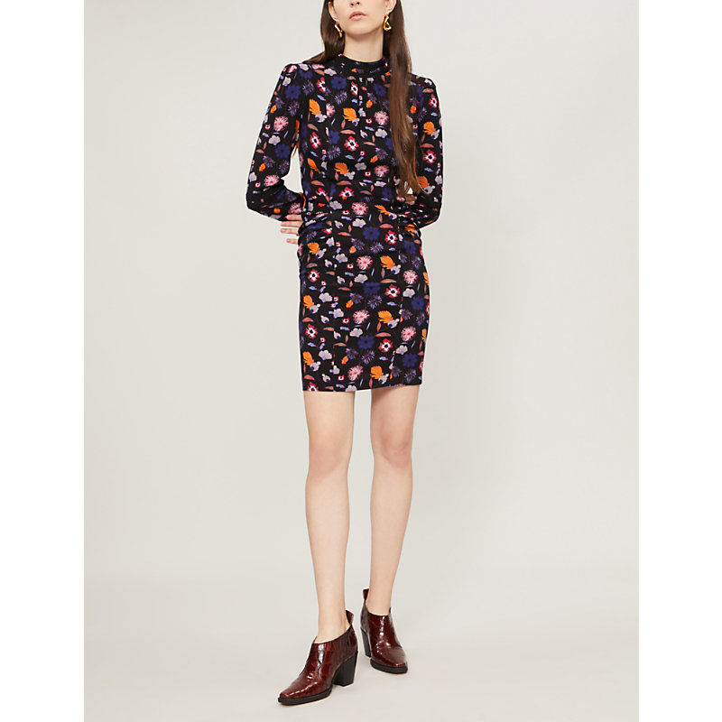 BA&SH Magnolia floral-print crepe dress