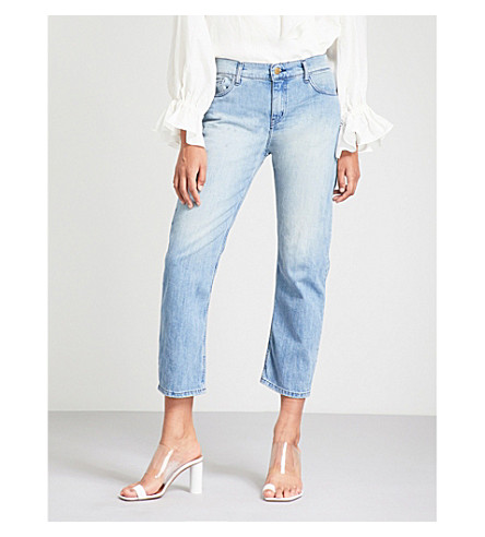 BA&SH Romy mid-rise boyfriend-fit jeans (Lightused