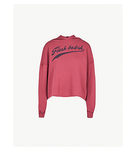 BA&SH Shelby cotton-jersey sweathshirt (Burgundy