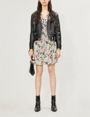 Pascou floral-print crepe dress