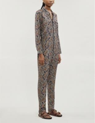 Pitt paisley-print crepe jumpsuit
